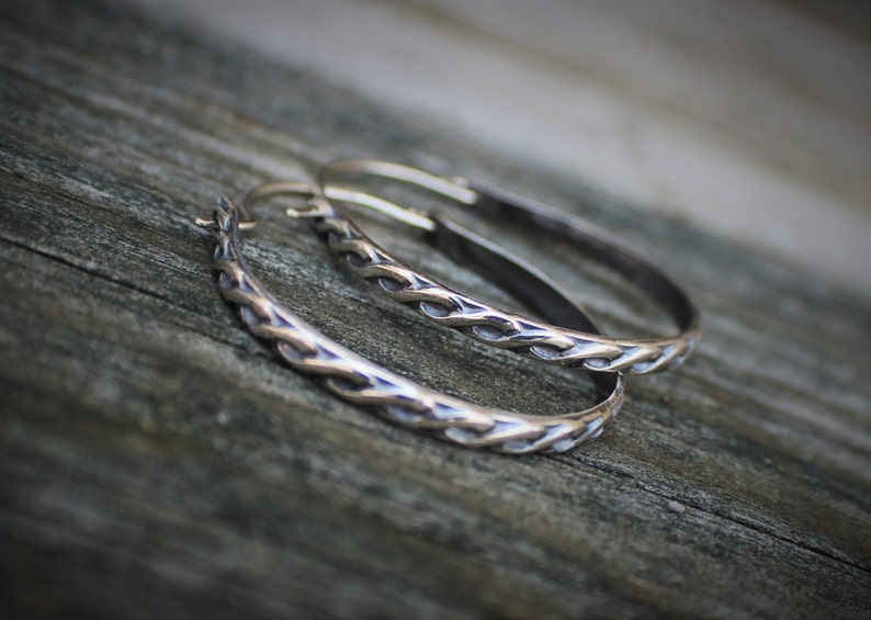 Modern Earrings Large Hoop Earrings Celtic Knot Hoop Earring Celtic Hoop Earrings Oval Hoop Earrings Boho Chic Style Minimal Edge