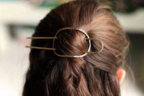 Gold Hair Slider Set, Simple Hair Stick, Bun Holder, Textured Hair Slider,Hair Pin,Simple Hair Pin,Minimalist Hair Fork Pin,Hair Accessories