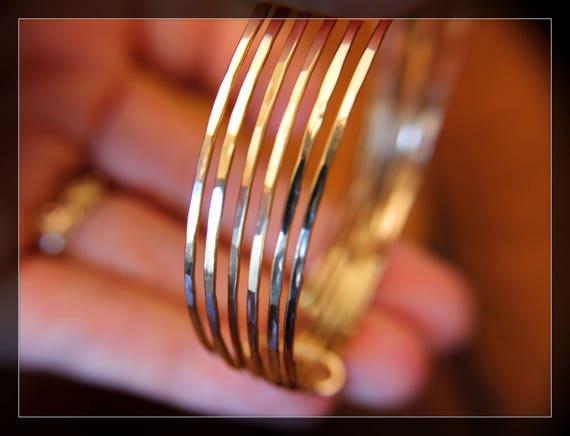 Bangle Bracelets, Bangle Set, Bracelets, Stacking Bracelets, Gold Bracelets, Hammered Bracelets, Hammered Bangles, Textured, Hammered, Gift