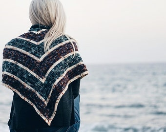 Crochet PATTERN- Overflow Shawl