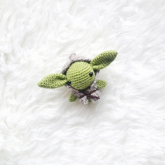 Crochet master Yoda Stuffed Green Knitted toy Amigurumi plush star ... | 570x570