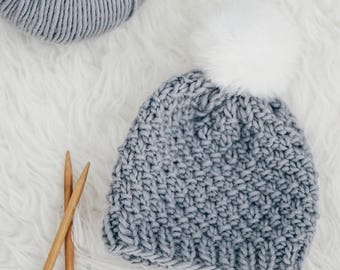 Knitting PATTERN- Moss Stitch Baby Hat