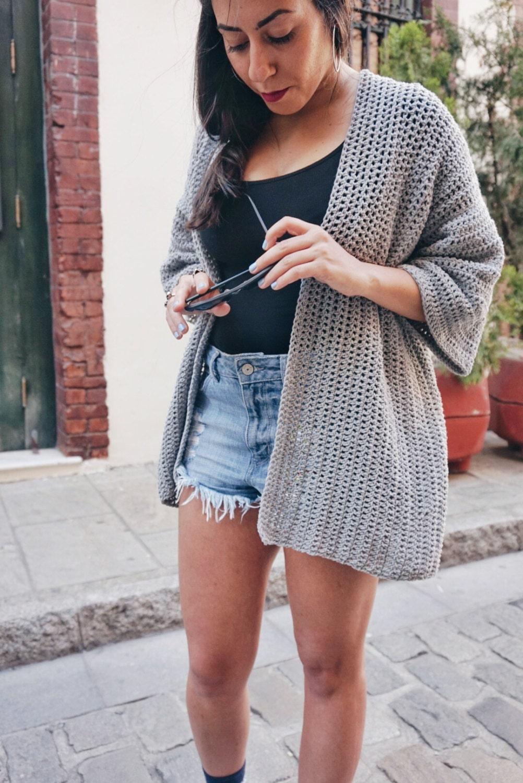 Crochet PATTERN- The Roxy Cardigan Sweater Pattern- Summer Crochet ...