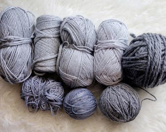 Yarn Sampler / Curated Yarn Bundle / Stash Sale / Weaving Crafting Yarn