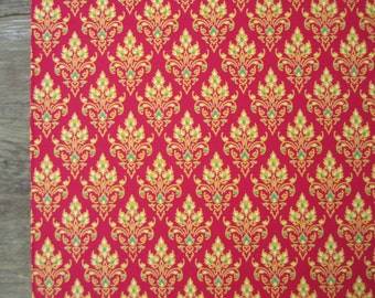 """1 yd. Thai sarong fabric, pure cotton fabric from Thailand, 42"""" wide, PINK fabric with traditional pattern, Thai sarong fabric, ONE yard"""