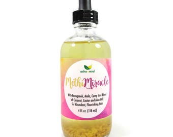 Methi Miracle Hair Oil, Fenugreek Hair Oil, Amla oil, Hair Growth, Fenugreek, Ayurvedic Growth Serum, Curry Leaf Hair Oil, Castor hair oil
