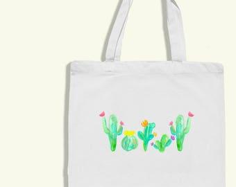 cactus tote bag - cactus artwork - cactus bag - cactus print - cactus home decor - cactus tote - cactus watercolor - watercolor cactus