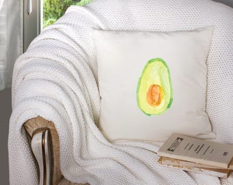 throw pillow covers - throw pillow with insert - avocado throw pillow - avocado art - decorative throw pillow . throw pillow with words -