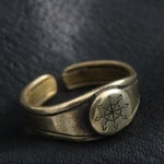 Bronze Chaos Star Ring