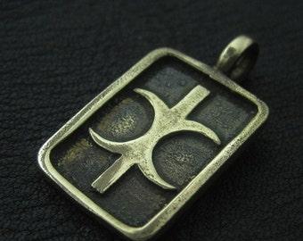 Bronze Hand of Eris pendant