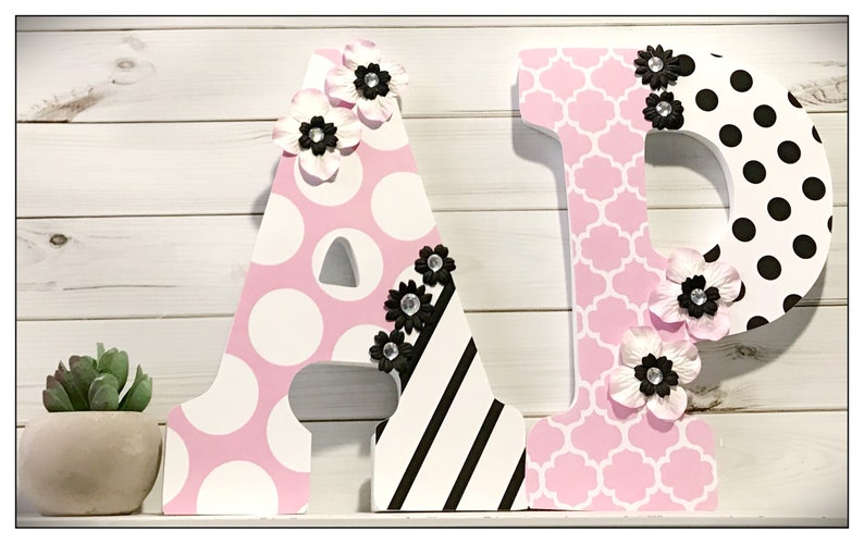 Pink And Black Nursery Baby Girl Girls Room Nursery Etsy