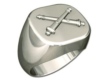 Mens Artillery Badge Ring