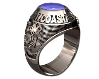 US Coast Guard Men's Ring - Classic Style