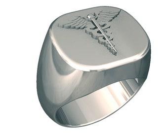 Mens HOSPITAL CORPSMAN BADGE Ring