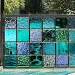 Ocean Stained Glass Window Panel Modern