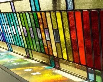 Rainbow Window x 2 Stained Glass