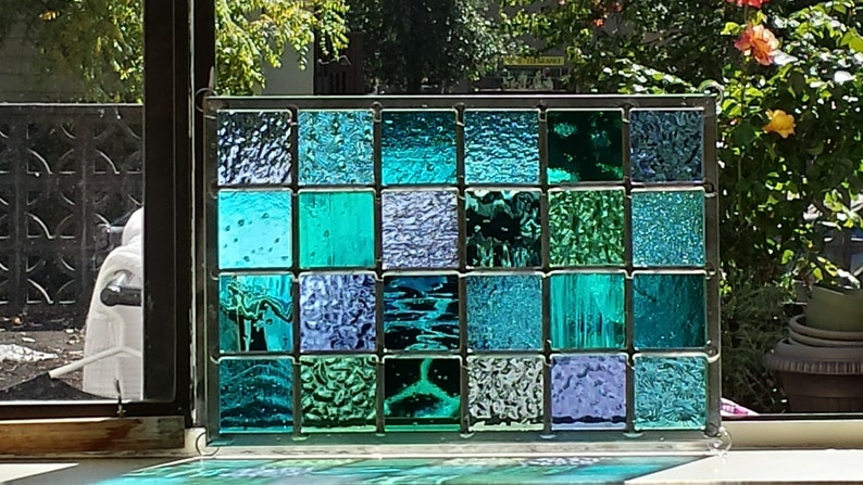 Stained Glass Modern Ocean image 0