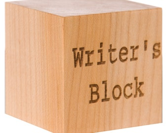 Personalized Writer's Block | Gifts for Writers | Unique Hanukkah Gifts | Writing Gifts | Writers Gift | Chanuka | Professor Gift
