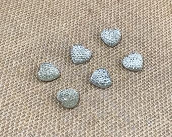 Set of 6 Rhinestone Heart push pins, thumb tacks