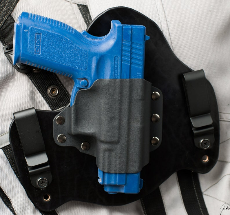 Springfield XD Black Leather Kydex Hybrid Gun IWB Holster