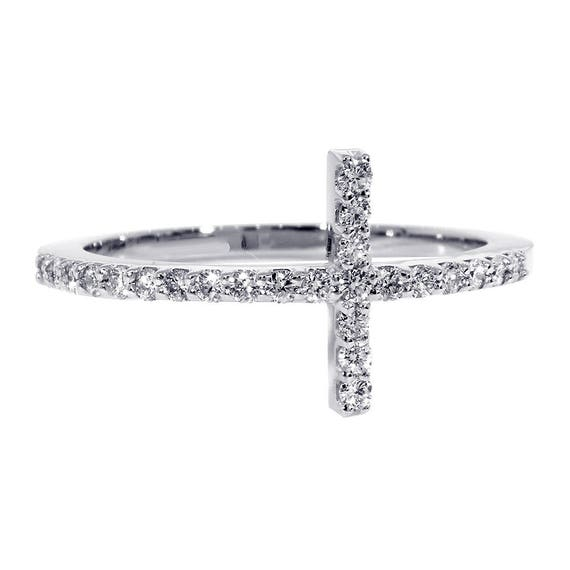 52mm Solid Barrel Cross Charm in Sterling Silver