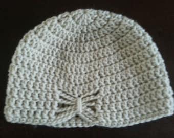 Girl's crochet butterfly beanie/hat