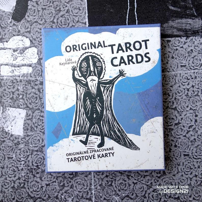 Linocut Tarot cards packet  78  2 cards image 0