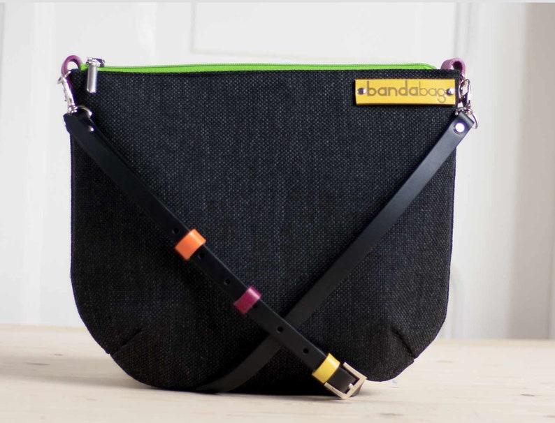 df8142f32a8a7 Czarna torebka crossbody czarna torba Płócienna torba