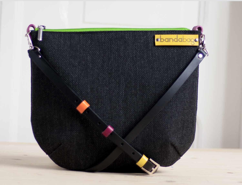147b33a08124c Czarna torebka crossbody czarna torba Płócienna torba