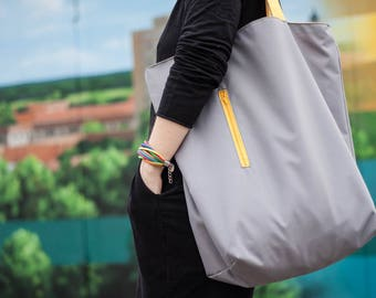 High quality shopper bag, huge, waterproof, capacious tote bag for vegan