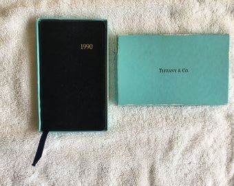 Vintage Tiffany & Co 1990 Pocket Datebook Calendar