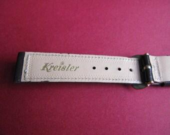 Kreisler Brown Watch Band Strap Mens Vintage Watchbands Saddle Leather Stitched 5/8 R