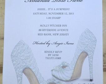 bridal shower invitations shoe theme bridal shower bridal shower invites personalized