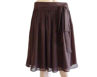 75a7c99c9 Brown Skirt. Knee Length Skirt