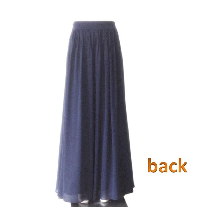 Red Orange Maxi Skirt Chiffon Floor Length Skirt. Red Orange Bridesmaid Skirt Long Evening Skirt