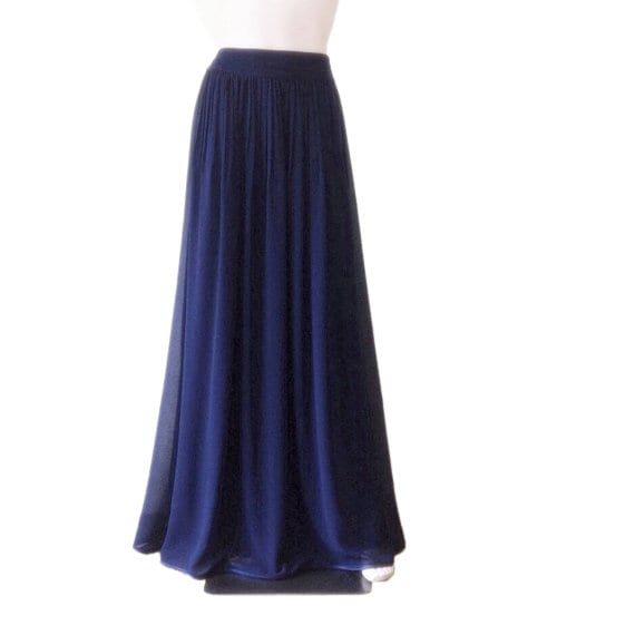 7079e999dd2c84 Jupe bleu marine demoiselle d'honneur. Jupe longue bleu marine. Jupe longue  soirée. Jupe de longueur de plancher.