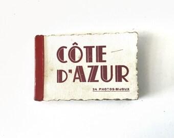 Vintage 1920s-1930s Art Deco French Miniature Souvenir Photo Album Book of La Cote d'Azur