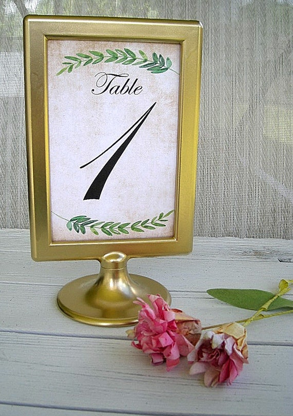 Gold Table Number Frame Frames Wedding Table Number Cards Gold Etsy