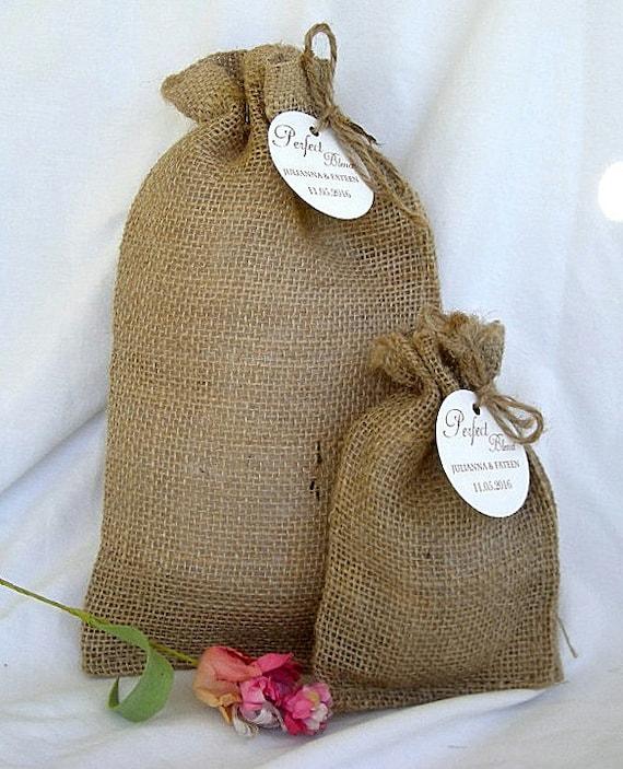 36 The Perfect Blend Burlap Bag Wedding Favor Coffee Bags Bridal Shower Favors
