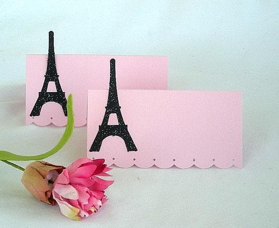 24 Eiffel Tower Place Card//Holder Paris Theme Party Wedding Bridal Shower
