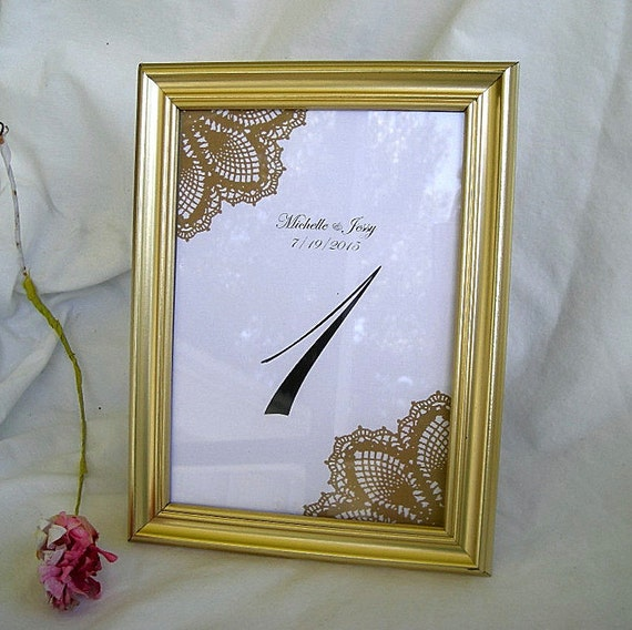 Gold Table Card Frame Frames Wedding Table Number Cards Silver Etsy