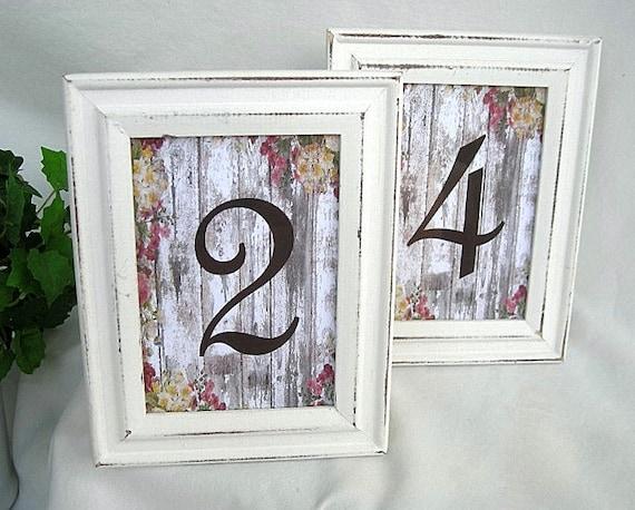 Wedding Table Card Frames Whitewash Wood Frames Wedding Table Etsy