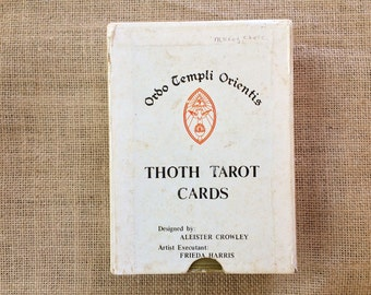 Vintage Thoth Tarot Cards, White Box A, 1969 (Samuel Weiser), designed by Aleister Crowley, 78 Card Deck, Free Ship USA