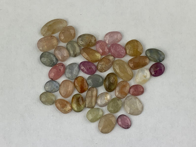 Corundum Natural Loose Gemstones 44+ carats Sapphire Rose Cut Mixed Lot 6-11mm size SPO126