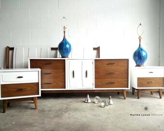 SAMPLE Of Custom Ordered Mid Century Bedroom Set