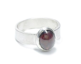 Garnet and Sterling Silver Ring, January Birthstone, Birthstone Ring, Garnet Sterling Silver Ring, Gift for Her