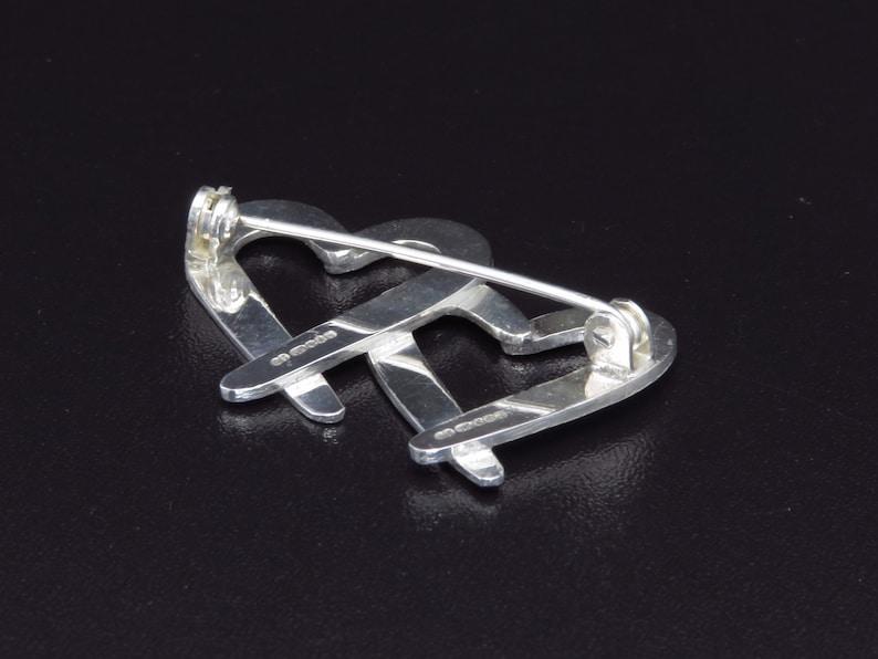 Silver Heart Pin Sterling Silver Double Heart Brooch Silver Heart Jewellery