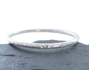 Sterling Silver Bangle, Solid Silver Textured Bangle, Handmade In Scotland, Gift for Her
