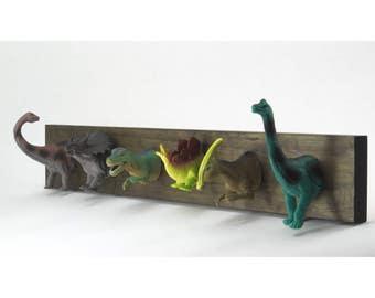 Dinosaur Coat Rack (stain)
