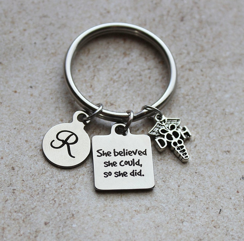 She Believed She Could...So She Did Dental Hygienist Keychain Gifts for Dental Hygienist Dental Hygienist Gifts Gifts Dentist Gifts